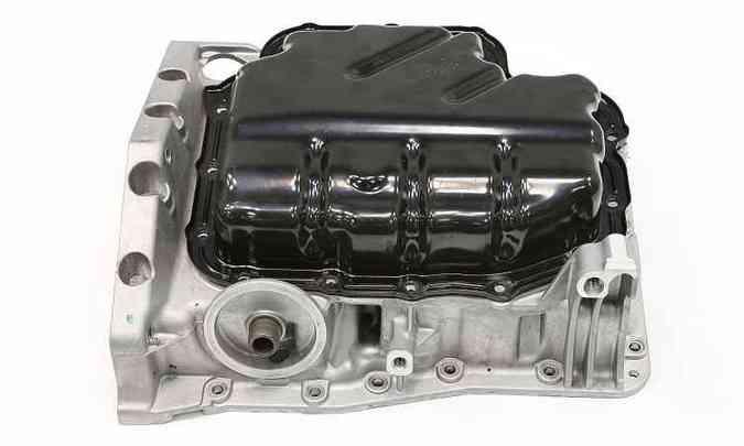 Bloco do motor três cilindros do Golf, que passou por aprimoramentos(foto: Volkswagen/Divulgação)