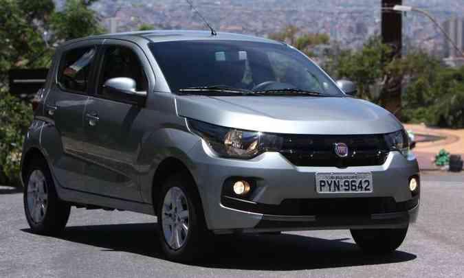 O Fiat Mobi na versão Easy 1.0 é o segundo modelo mais barato, por R$ 39.740(foto: Edésio Ferreira/EM/D.A Press)