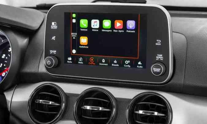 Sistema de informação e entretenimento traz aplicativos(foto: Fiat/Divulgação)