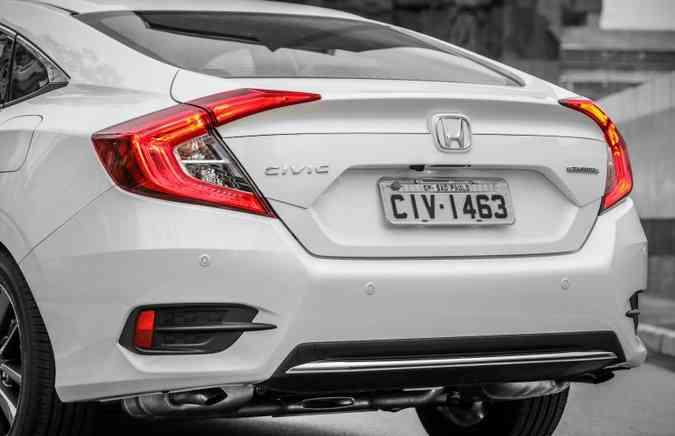 Para-choque traseiro ganhou barra cromada na porção inferior(foto: Honda/Divulgação)