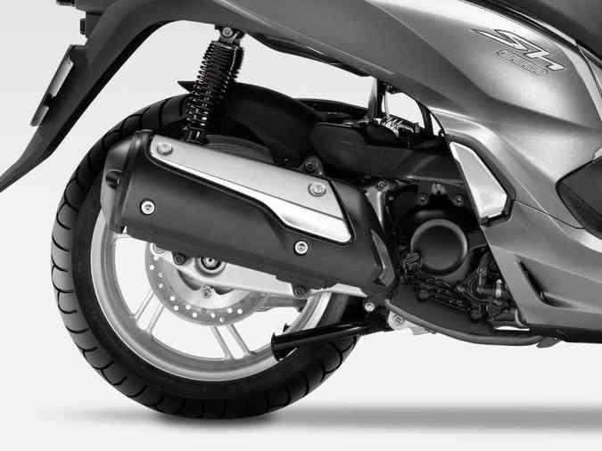 Os freios são a disco com sistema C-ABS(foto: Honda / Divulgação)
