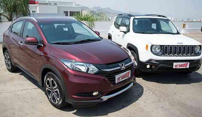 Propostas diferentes de estilo dos dois SUVs(foto: Thiago Ventura/EM/D.A Press)