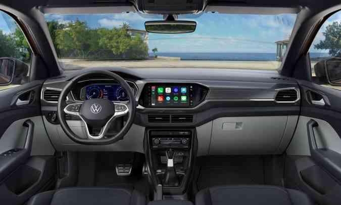Painel de instrumentos totalmente digital e multimídia VW Play com tela de 10,1 polegadas(foto: Volkswagen/Divulgação)
