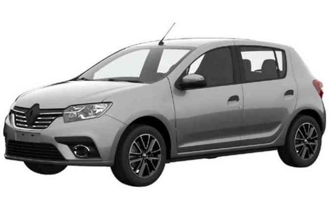 Renault Sandero vai ganhar cara nova, seguindo a identidade visual da marca(foto: INPI/Reprodução da internet)