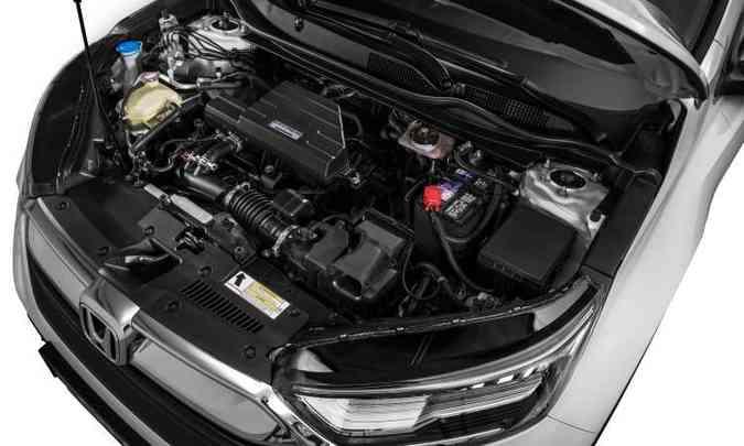 O motor é mesmo 1.5 turbo a gasolina usado pelo Civic, com 190cv de potência e 24,5kgfm de torque(foto: Honda/Divulgação)