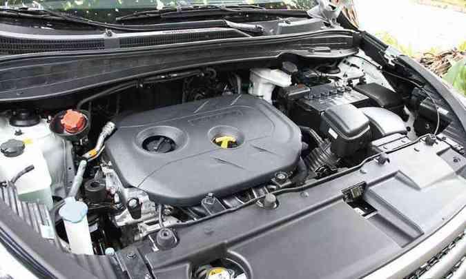 Motor desenvolve 167cv com etanol, proporcionando bom desempenho(foto: Marlos Ney Vidal/ EM/D.A Press)