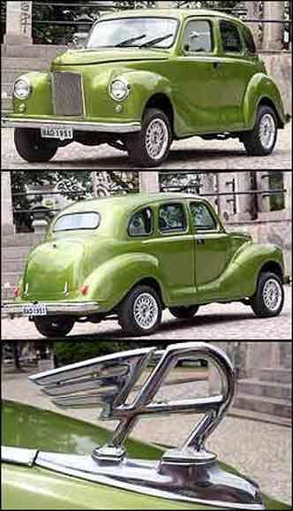 Modelo foi lançado no final da década de 40 e ajudou a alavancar vendas da marca na Europa. A carroceria não foi modificada e preserva o clássico estilo inglês. Já o símbolo da Austin é um dos itens originais(foto: Fotos: Marlos Ney Vidal/EM)