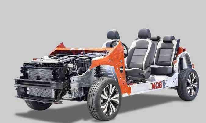 O novo SUV é construído sobre a plataforma modular MQB, a mesma do Polo e Virtus(foto: Volkswagen/Divulgação)