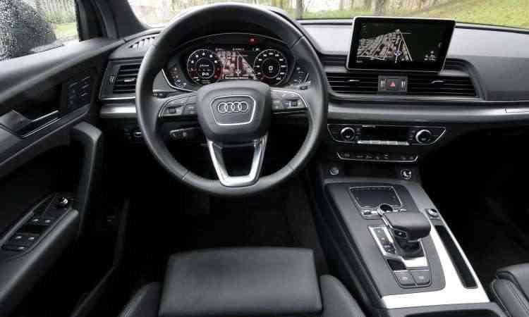 O Audi Virtual Cockpit expõe o mapa do GPS bem diante do motorista, que não precisa desviar a visão - Juarez Rodrigues/EM/D.A Press