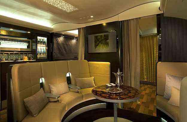 Passageiros da primeira classe têm acesso a um lobby exclusivo - Etihad/Divulgação