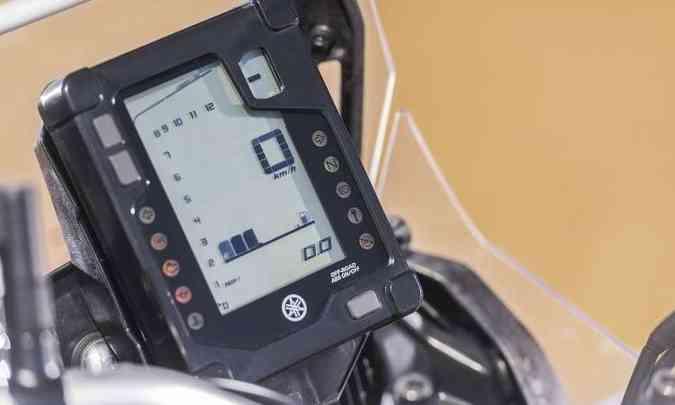 O painel digital tem formato vertical como nas competições(foto: Yamaha/Divulgação)