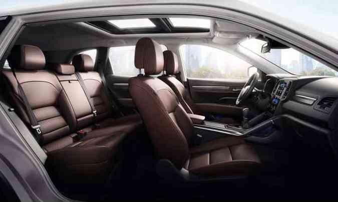 SUV médio grande tem medidas generosas no interior(foto: Renault/Divulgação)