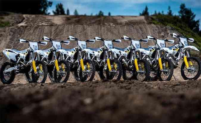Nova linha de motos Husqvarna Enduro dois e quatro tempos(foto: Renato Duraes/Divulgação)