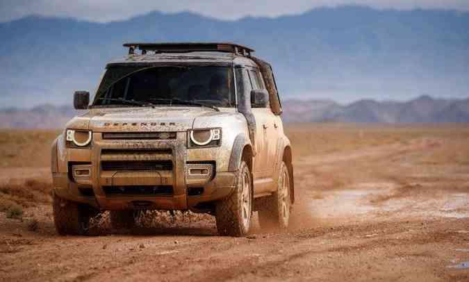 Land Rover oferece muitos equipamentos para melhorar a performance do Defender(foto: Land Rover/Divulgação)