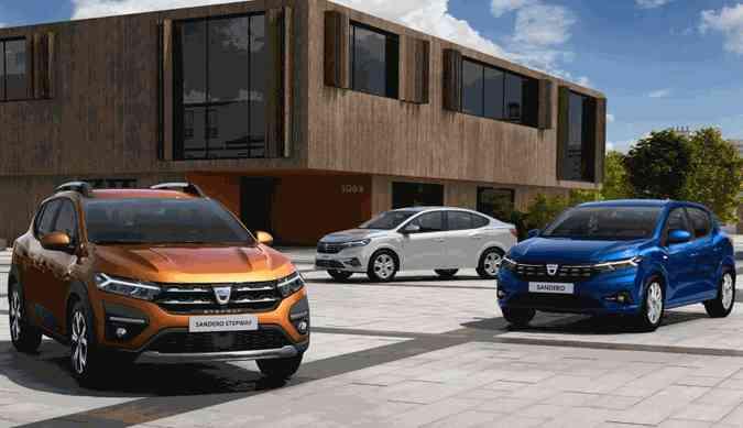 Os novos Stepway, Logan e Sandero só chegarão ao mercado brasileiro em 2022(foto: Dacia/Divulgação)