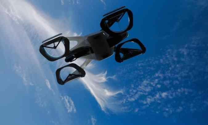 Nesta imagem é possível ver que o SD-XX terá quatro rodas, que o qualificam como carro voador(foto: Sky Drive/Divulgação)