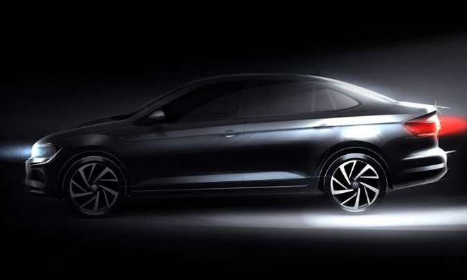 Teaser do Virtus divulgado pela Volkswagen(foto: Volkswagen/Divulgação)