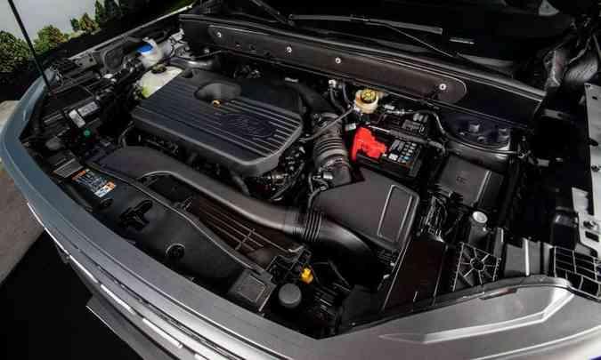 O motor 2.0 EcoBoost desenvolve 248cv de potência e 38kgfm de torque máximo(foto: Ford/Divulgação)