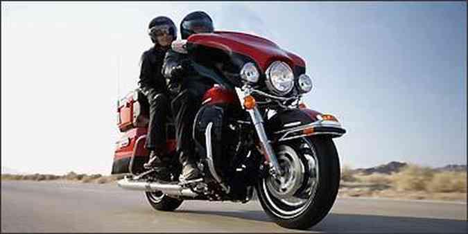 A Electra Glide Ultra Limited é candidata a rainha das estradas(foto: Fotos: Harley Davidson/Dvulgação)