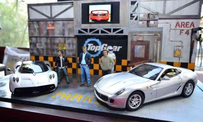 Miniaturas em reprodução do cenário do programa Top Gear(foto: Lec Comunicação/Divulgação)