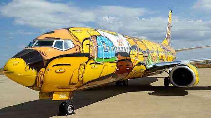 Pintura exalta a diversidade do povo brasileiro(foto: Thiago Ventura/EM/D.A Press)