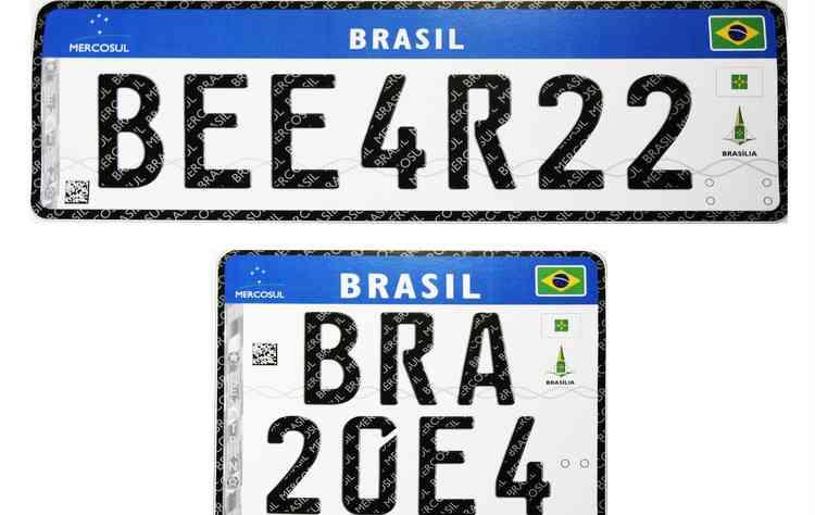 Novas placas já são utilizadas no Uruguai e na Argentina  - REPRODUCAO/INTERNET