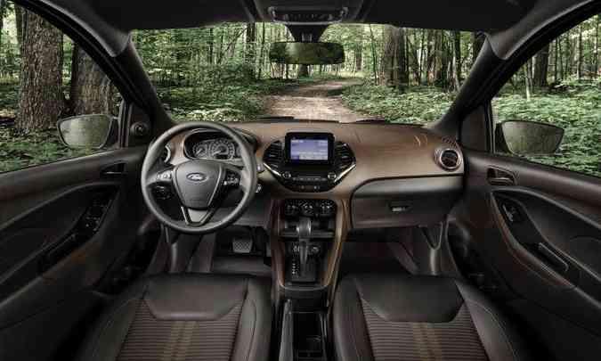 Interior do Ka FreeStyle(foto: Ford/Divulgação)