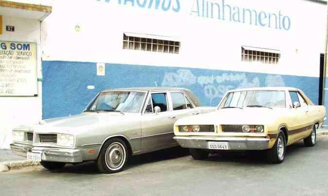 Dodge Le Baron 1980 e Dodge Charger 1978(foto: Eduardo Rocha/RR)