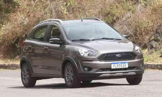 Ford Ka, o segundo modelo mais vendido de 2019, caiu para a quinta colocação no acumulado de 2020(foto: Jair Amaral/EM/D.A Press)