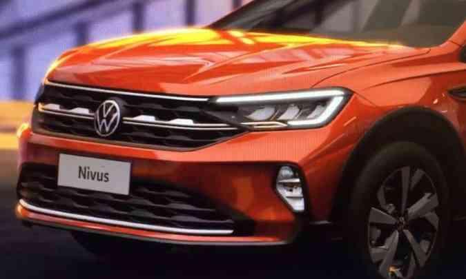 O SUV compacto tem a grade dianteira mais larga do que a do Polo e traz a nova logo da marca(foto: Volkswagen/Divulgação)