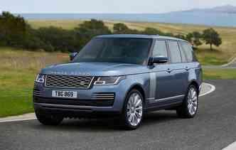 Nova versão do Range Rover 2018 recebeu mais comodidade dentro da cabine. Foto: Jaguar Land Rover / Divulgação