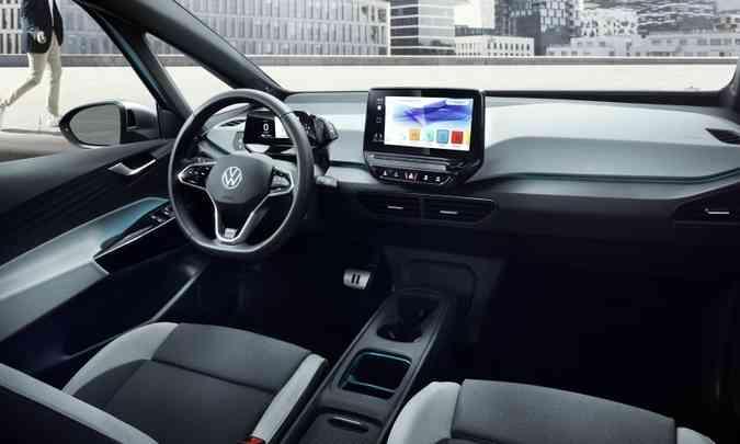 Interior do Volkswagen ID.3(foto: Volkswagen/Divulgação)