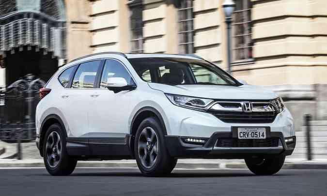 SUV da marca japonesa ganhou dimensões maiores e formas ainda mais robustas(foto: Honda/Divulgação)