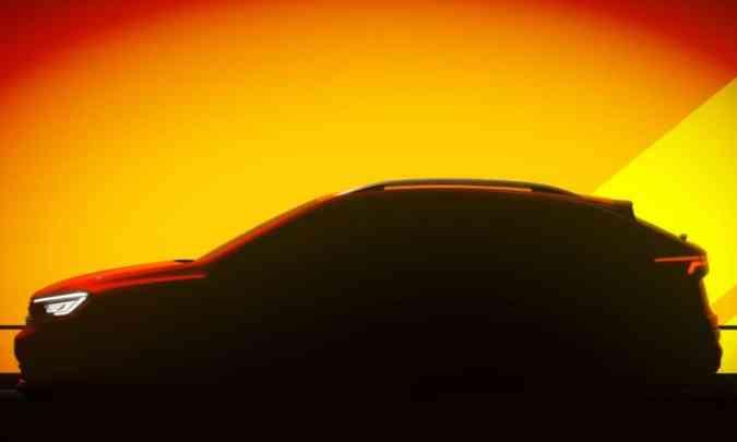 Silhueta do Volkswagen Nivus revela suas linhas de SUV-cupê(foto: Volkswagen/Divulgação)