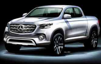 Classe X, como deverá ser batizada, será equipada com motor a diesel de quatro ou seis cilindros(foto: Mercedes/Divulgação)