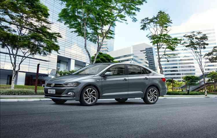 Configuração de entrada do Virtus conta com motor 1.6 de 117 cavalos. Foto: Volkswagen / Divulgação -