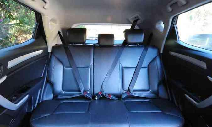 O espaço interno é bom para passageiros...(foto: Gladyston Rodrigues/EM/D.A Press)
