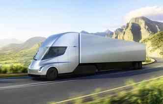 Caminhão da Tesla tem autonomia de até 805 km(foto: Tesla / Divulgação)