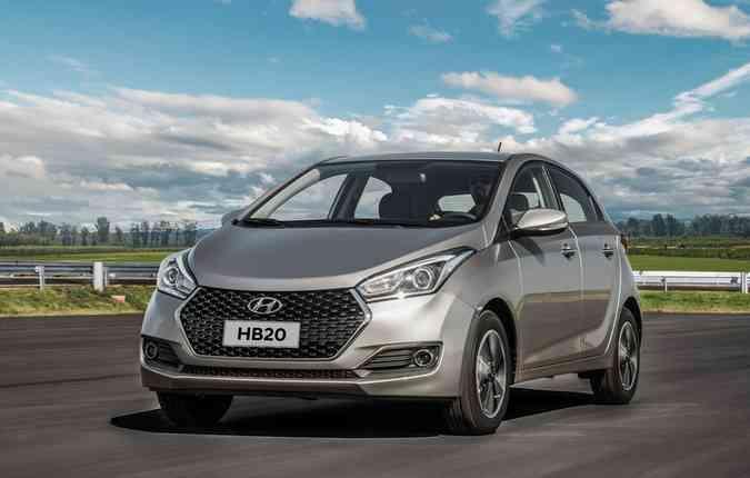 Hyundai HB20 conseguiu desbancar o Ford KA(foto: Divulgação)