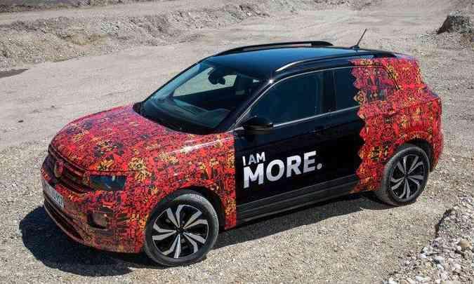 São 10mm a mais de altura e 86mm a mais de distância entre-eixos em relação ao T-Cross europeu.(foto: Volkswagen/Divulgação)