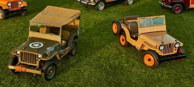 Compare o Willys MB com o jipe civil lançado em 1945(foto: Jeep/Divulgação)