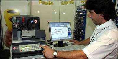 Segundo Pedercini, software específico permite codificar chave - Marlos Ney Vidal/EM - 8/12/07