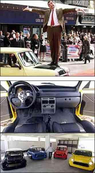 Modelo ficou conhecido por muitos como o carro do Mr. Bean. Interior tem painel de Uno Mille e bancos revestidos em couro. Em sua oficina no Estoril, o empresário já prepara outras três unidades do veículo(foto: Max Nash/AFP)