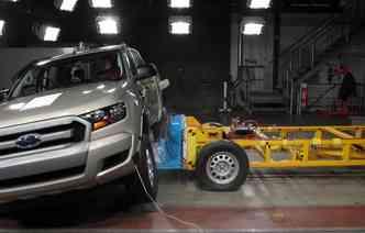 Testes de colisão atestam a segurança dos veículos. Foto: Latin NCap / Divulgação