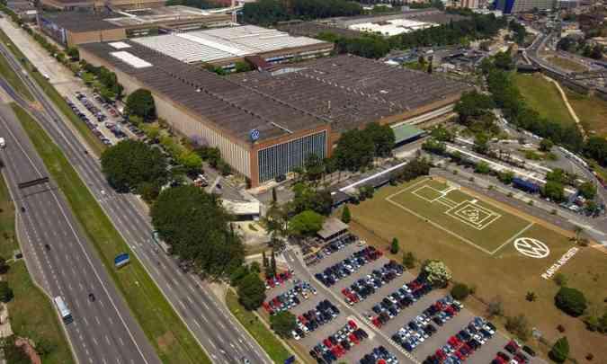 Fábrica da VW em São Bernardo do Campo, onde são produzidos Polo, Virtus e Saveiro(foto: Volkswagen/Divulgação)