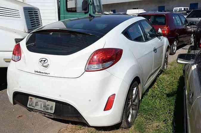 Hyundai Veloster 2012 - Cupê esportivo causou frisson em 2011, apesar da potência pífia. Esse modelo foi apreendido por falta de licenciamento(foto: Thiago Ventura/EM/D.A Press)