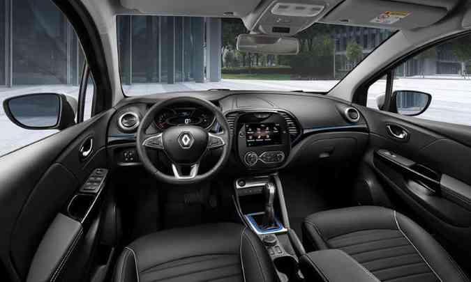 O modelo russo tem o interior diferente, com comandos reposicionados e multimídia Easy Link de oito polegadas(foto: Renault/Divulgação)