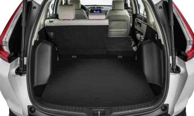 O porta-malas perdeu volume e agora tem capacidade de 522 litros(foto: Honda/Divulgação)