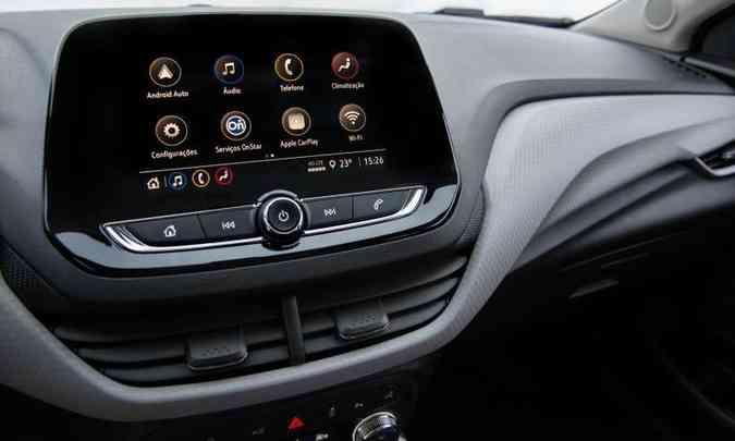 Nova geração da multimídia Mylink traz mais recursos, como Wi-Fi nativo, mas é pago(foto: Chevrolet/Divulgação)