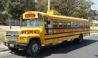 Em Contagem, na RMBH, school bus Ford é utilizado por escola de idiomas(foto: Bruno Santos Lima/divulgação)